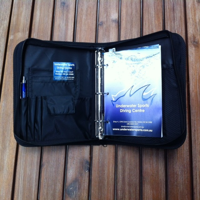 Underwater Sports Log Book - Cover and Inserts